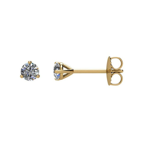 14K Yellow Gold 1/5 CTW Diamond Stud Earrings