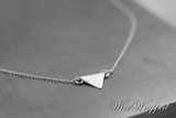 Triangle Necklace - Sterling Silver Necklace - CUSTOMIZABLE - Trendy Triangle Necklace - Unique
