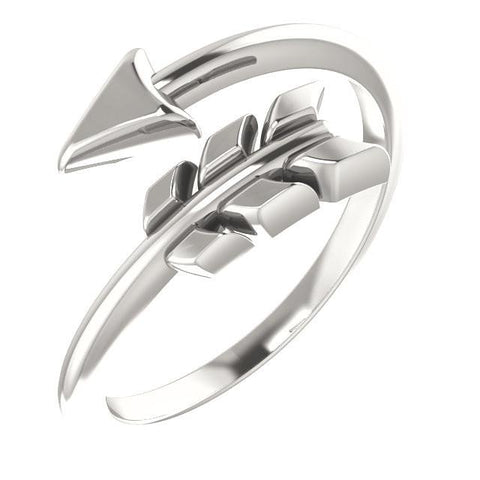 Negative Space Arrow Ring - Sterling Silver, 14k Gold (Y, W or R), Platinum
