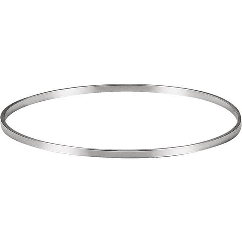 2.25mm Bangle Bracelet - Sterling Silver