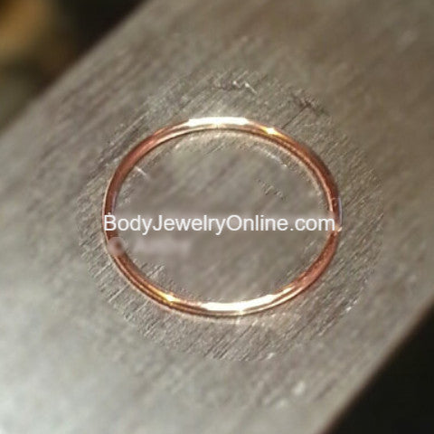SALE! Hoop / Ring - 24 gauge - Variety - 14k, 18k, 22k, 24k Gold (Y, G, or R), Platinum, Palladium, or Silver