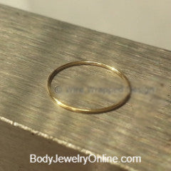 Hoop / Ring - 26 gauge - Variety - 14k, 18k, 22k, 24k Gold (Y, G, or R), Platinum, Palladium, or Silver