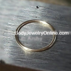 Ring / Hoop 22 gauge - Variety - 14k, 18k Gold (Y, G, or R), Platinum, Palladium, or Silver