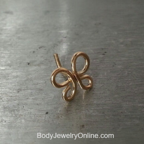Nose Stud VARIETY BUTTERFLY Cartilage 22, 24, 26ga 14k Yellow, White, Pink Rose Solid / Gold Filled / Silver Earring Helix Tragus Dragonfly