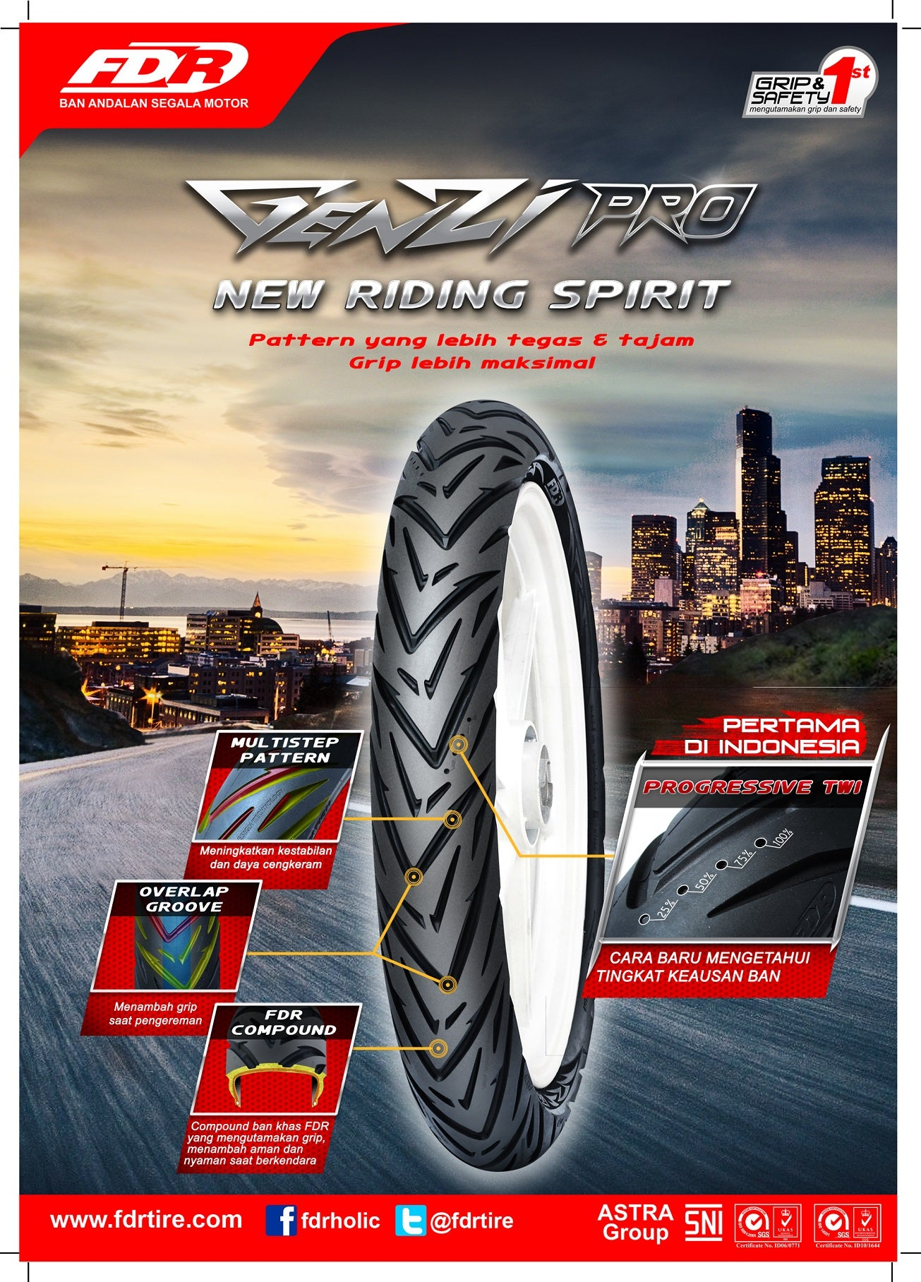 fdr racing tyre genzi pro tubeless (intermediate compound