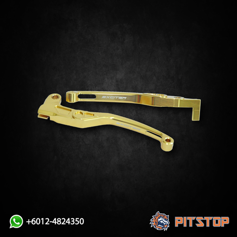 Y15ZR Alloy Lever Set Exciter Gold (Thailand Yamaha)