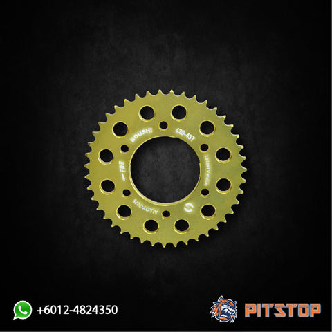 Y15ZR Alloy Sprocket 428-42T / 43T BOUSHI