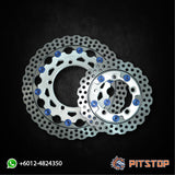 Y15ZR Disk Brake Plate Alloy BOUSHI (Front + Rear)