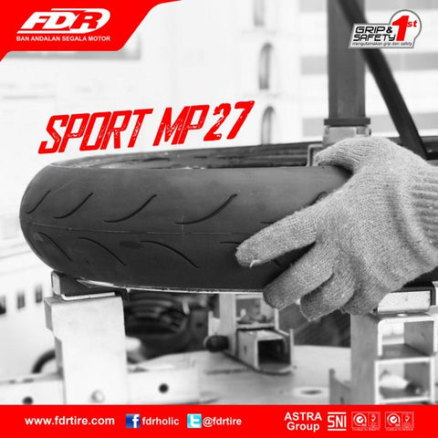 FDR Racing Tyre Sport MP27 Tubeless (Racing Compound)
