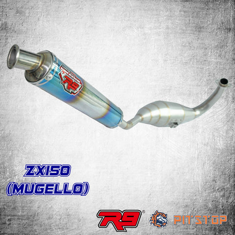 ZX150 Racing Exhaust R9 New Mugello (Chamber)
