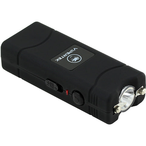 VIPERTEK VTS-881 - 100,000,000 Micro Stun Gun - Rechargeable with LED Flashlight, Black