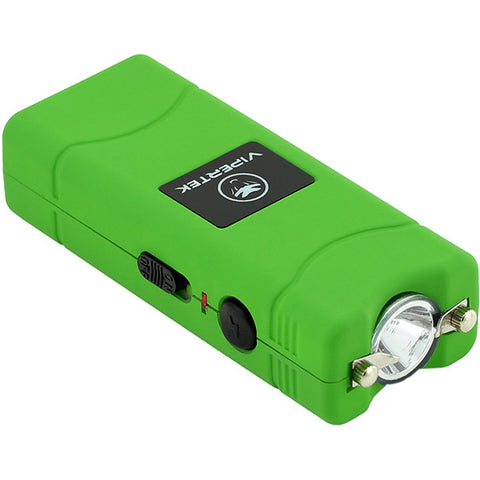 VIPERTEK VTS-881 - 100,000,000 Micro Stun Gun - Rechargeable with LED Flashlight, Green