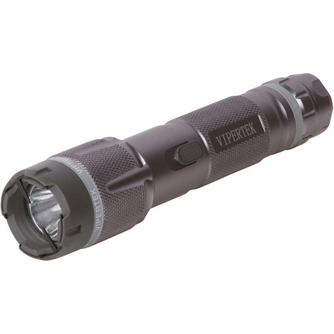 VIPERTEK VTS-T03 - 230,000,000 Heavy Duty Stun Gun - Rechargeable with LED Tactical Flashlight, Gray