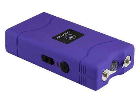 VIPERTEK VTS-880 - Mini Stun Gun - Rechargeable with LED Flashlight, Purple Taser