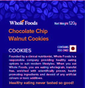 Chocolate Chip Walnut Cookies (Non veg)