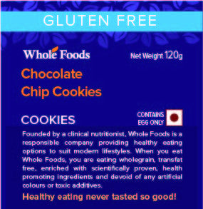 Gluten Free Chocolate Chip Cookies (Non Veg)