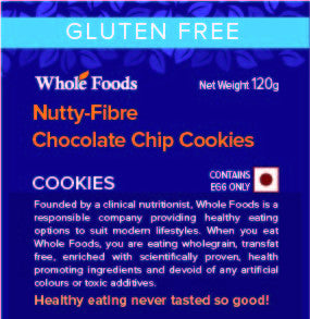 Gluten Free Nutty-Fibre Chocolate Chip Cookies (Non Veg)