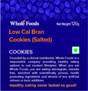 Low Cal Bran Cookies Salted (Veg)