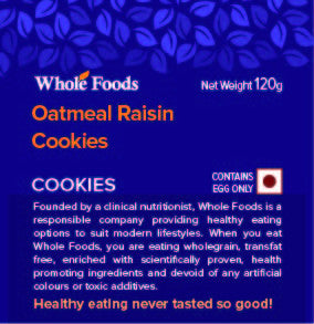 Oatmeal Raisin Cookies Non Veg
