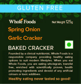 Gluten Free Spring Onion Garlic Cracker
