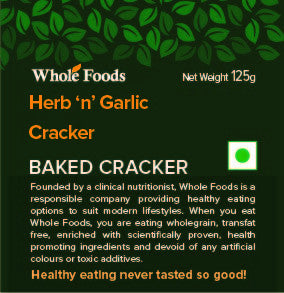 Baked Herb 'n' Garlic Cracker