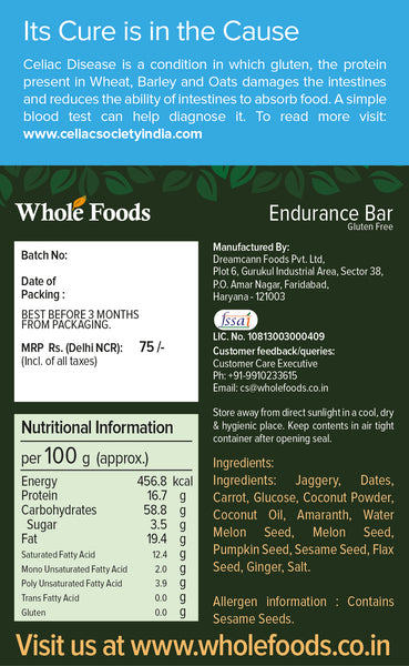 Gluten Free Endurance Energy Bar