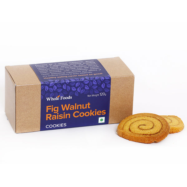 Fig Walnut Raisin Cookies  Eggless