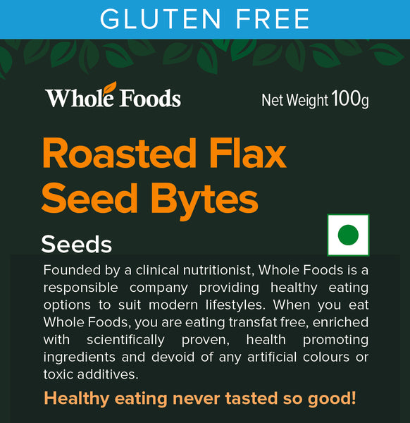 Roasted Flax Seeds Bytes