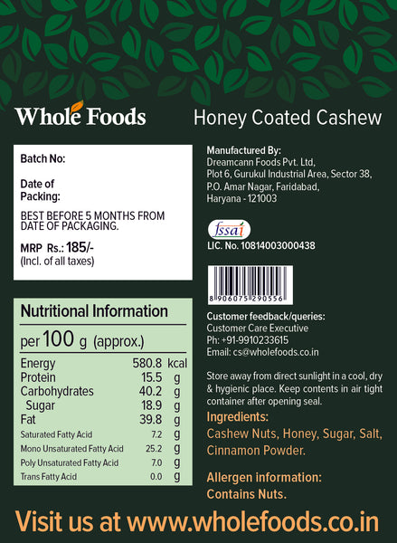 Honey Coated Cashew