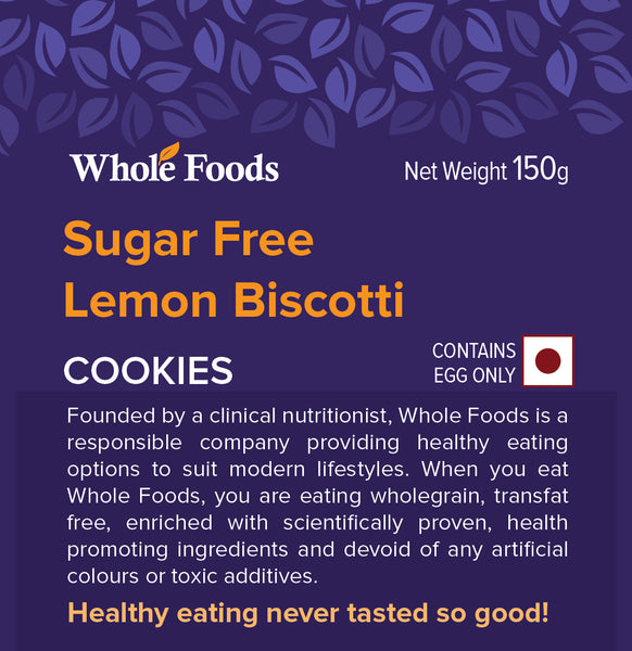 Lemon Biscotti  (Sugarfree)