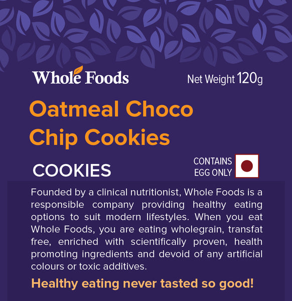 Oatmeal Chocolate Chip Cookies Non Veg
