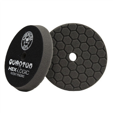 CHEMICAL GUYS BUFX116HEX5 - HEX-LOGIC QUANTUM FINISHING PAD, BLACK (5.5 INCH) - Chemical Guys W.A.