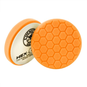 ORANGE HEX-LOGIC MEDIUM-HEAVY CUTTING PAD 4""