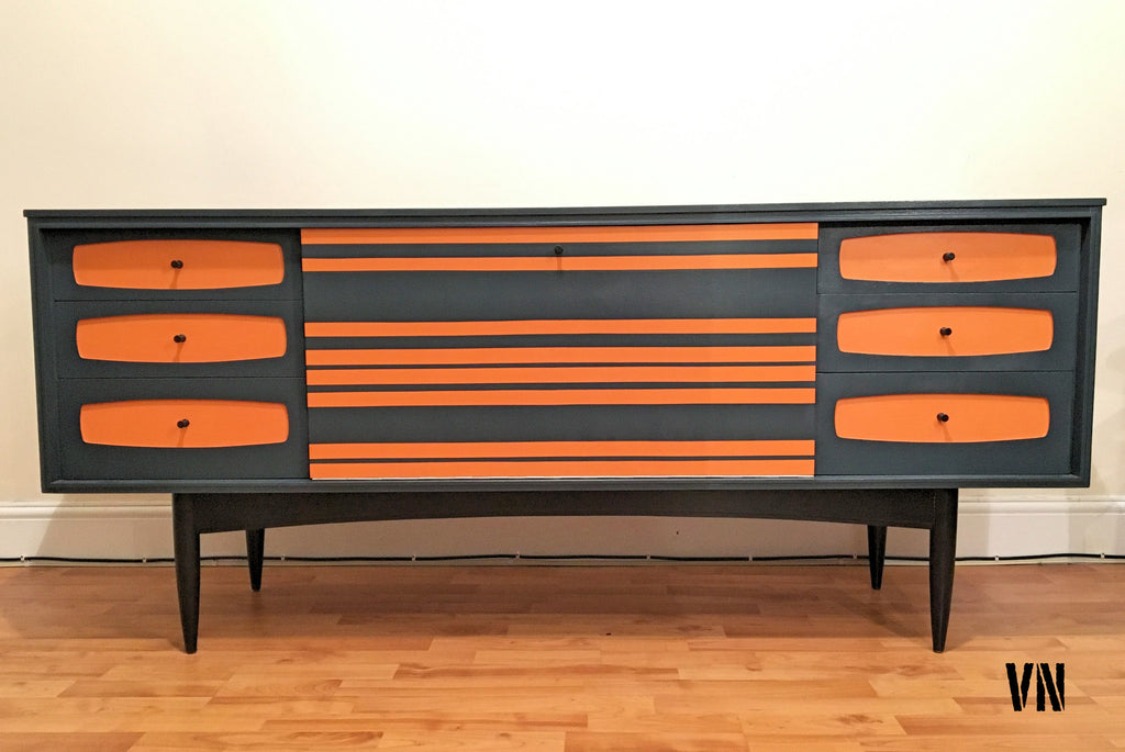 upcycled vintage retro teak long sideboard danish. Black Bedroom Furniture Sets. Home Design Ideas