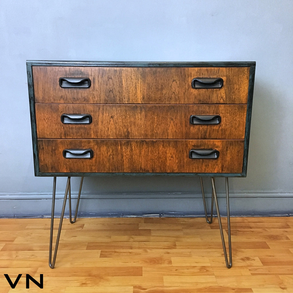 G Plan Chest Of Three Drawers On Hairpin Legs