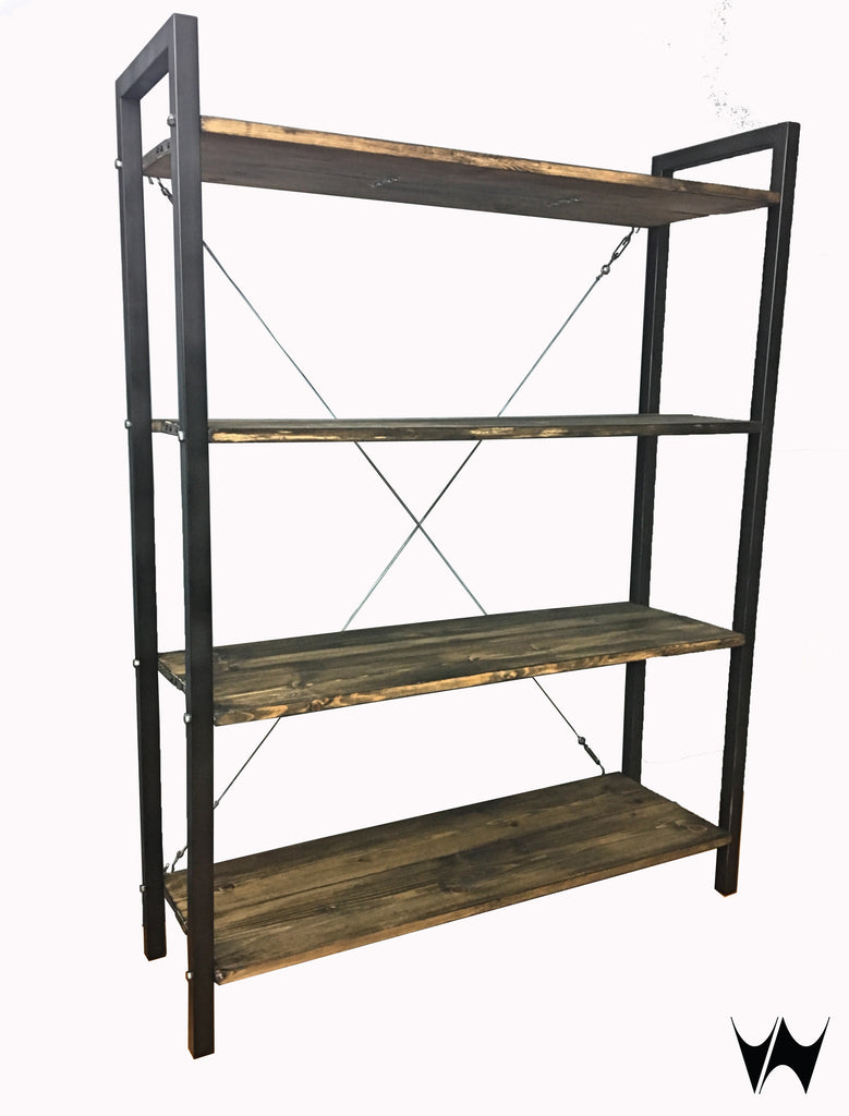 Industrial style shelving units