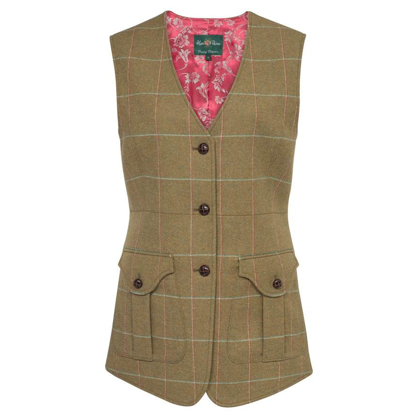 Alan Paine Compton Meadow Tweed Waistcoat