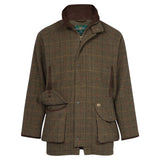 Combrook Mens Waterproof Tweed Shooting Coat Peat - Shooting Fit
