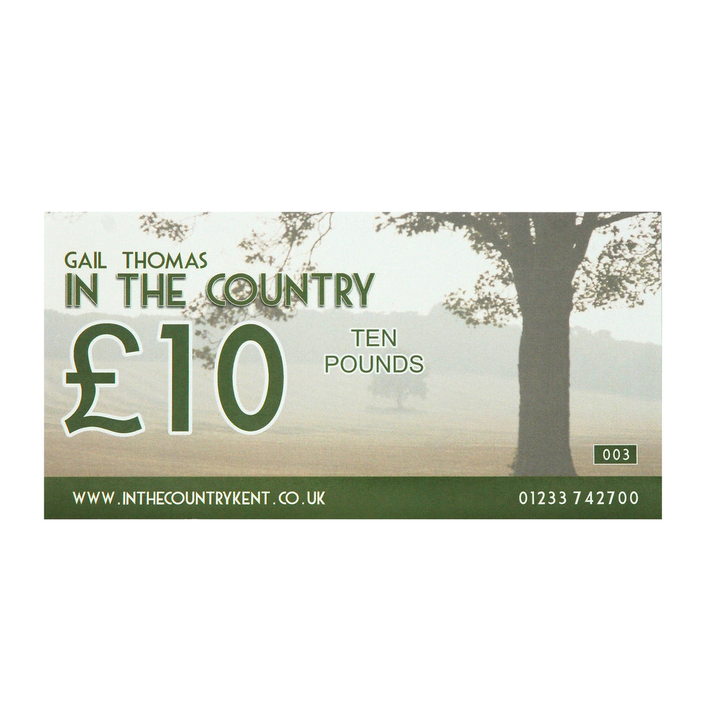 In The Country gift vouchers
