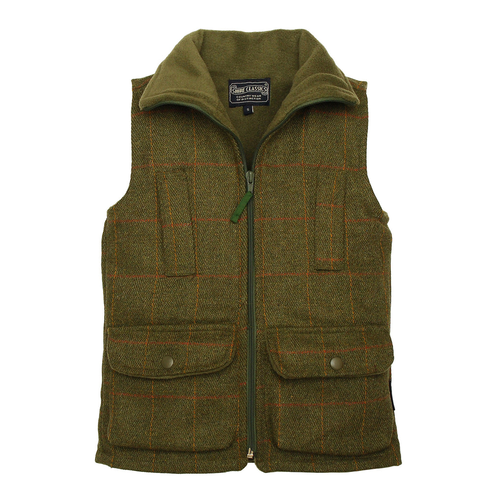BRITISH COUNTRY COLLECTION - TWEED FLEECE LINED GILET