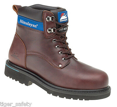 Himalayan Full Grain Leather Goodyear Welted Safety Midsole Boot