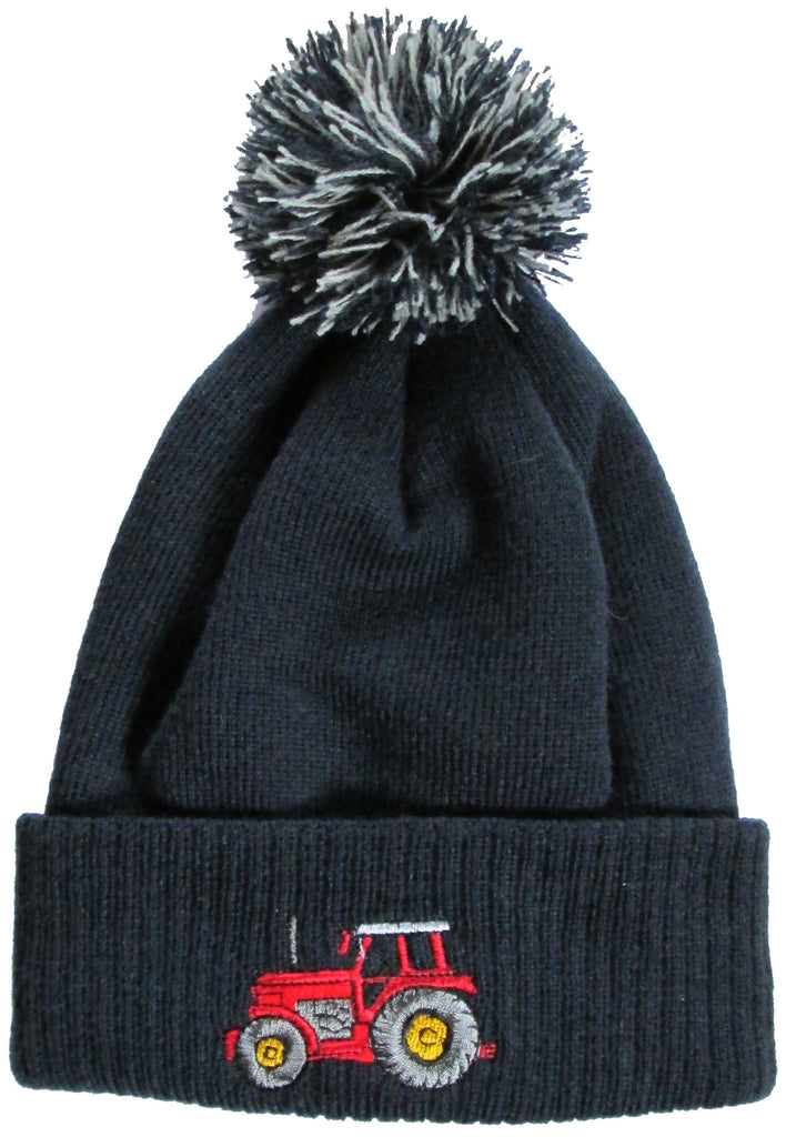 British Country Collection Pom Pom Hat - Navy Tractor