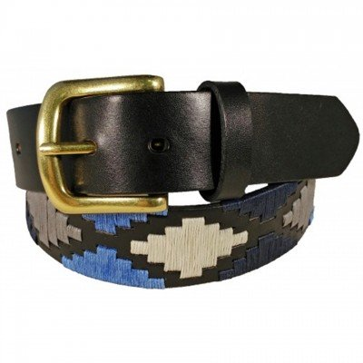 Polo Pattern Leather Belt by Ibex of England