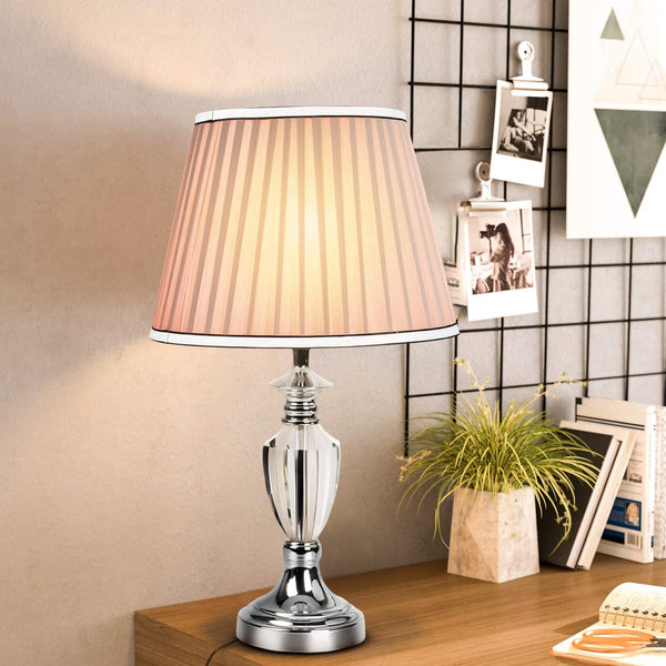 Kyjopa Modern Style Table Lamp Decorative Crystal Desk Lamp