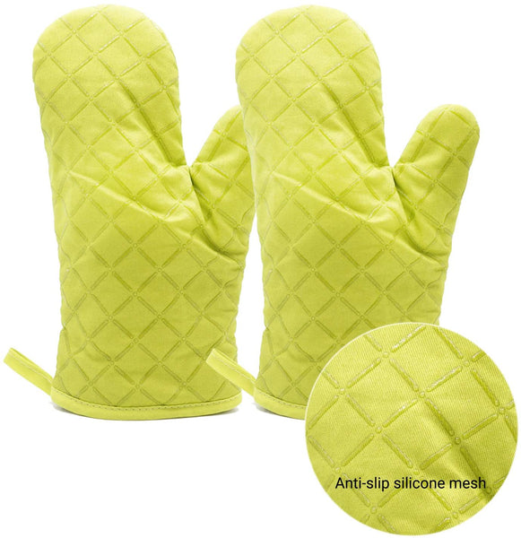 Lagniese Oven Mitts 2pcs, Pot Holders Heat Resistant, Non-Slip Silicone Mesh Mitts