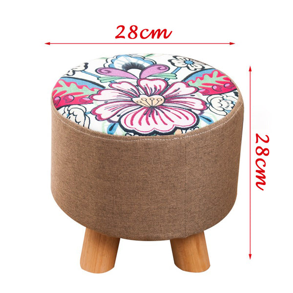 Zeanus Stool for Adult and Kids Flower Design