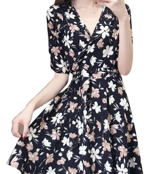 Kevitle Dresses Flower Print Black