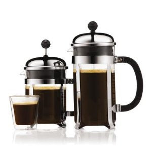 French press, cafetiere, coffee press, cafetière