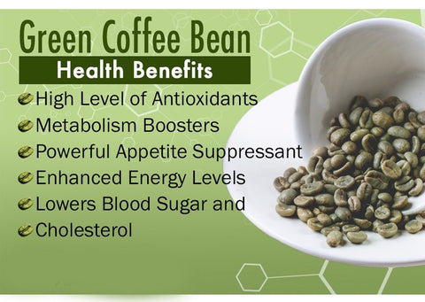 green coffee beans, raw coffee beans, unroasted coffee beans