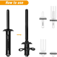 GOOACC Mutipurpose Diagonal Cutting Pliers,Stainless Steel Car Push Retainer Rivet Trim Clip Pry Puller,Rivets Assortments Fastener Cutter Puller Tool